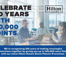 Hilton – Celebrate 100 Years with 100,000 Points
